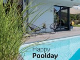Happy Poolday Schwimmbad-Henne